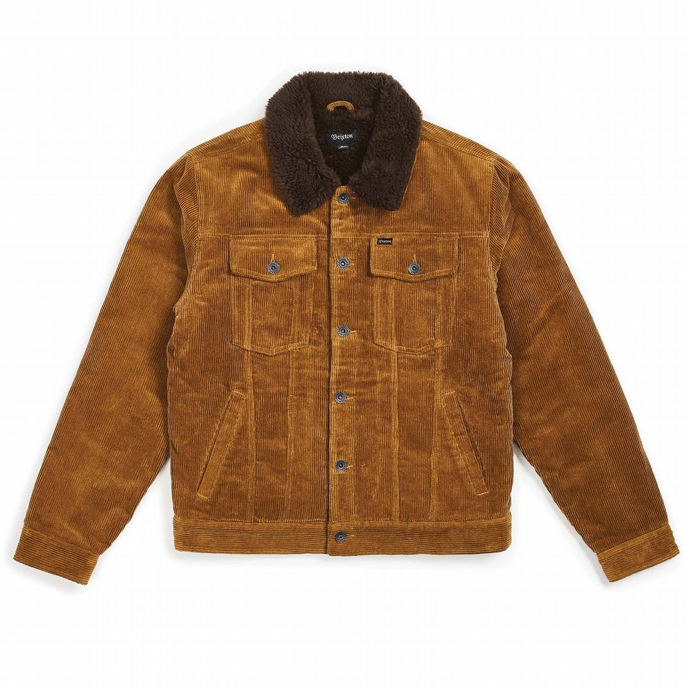 BRIXTON JACKA CABLE SHERPA JACKET BRASS