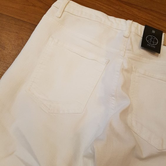 2ND ONE JEANS - LILY RIPPED WHITE 4