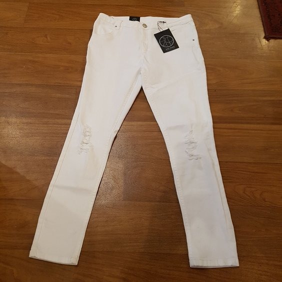 2ND ONE JEANS - LILY RIPPED WHITE