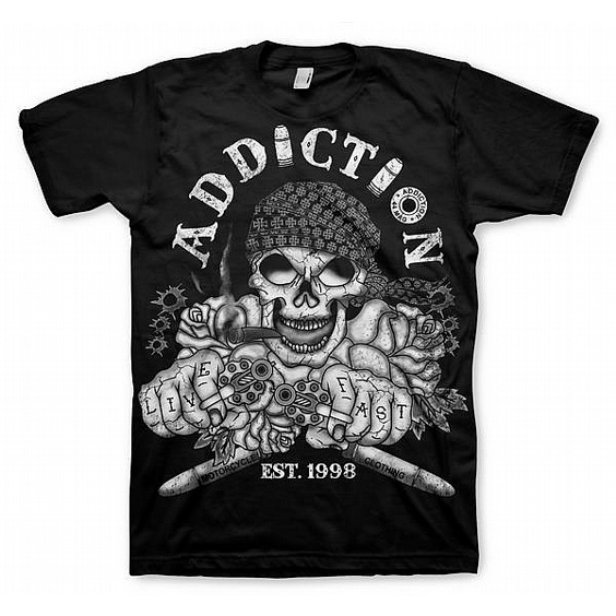 ADDICTION T-SHIRT - LIVE FAST