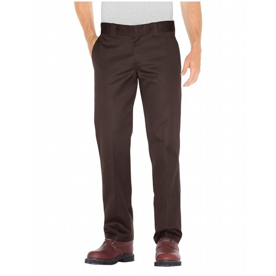 DICKIES BYXOR 873 SLIM STRAIGHT - DARK BROWN