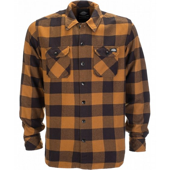 DICKIES SKJORTA - SACRAMENTO BROWN DUCKY 3