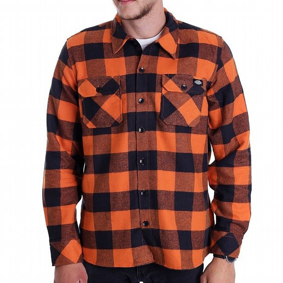 DICKIES SKJORTA - SACRAMENTO ORANGE 2