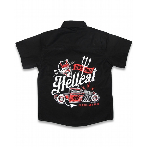 HOTROD HELLCAT BARN SKJORTA - TO HELL AND BACK