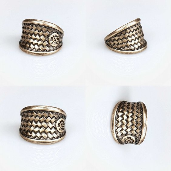 JERNHEST RING - FLORENCE BRASS RING