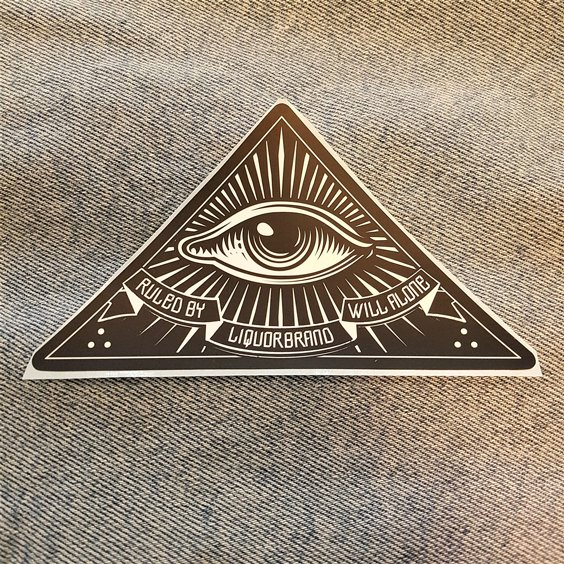 LIQUORBRAND STICKER - ALL SEEING EYE