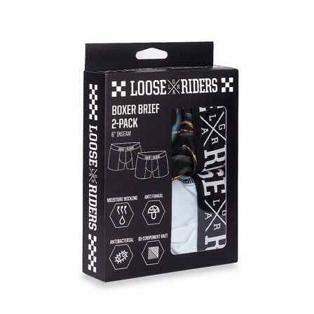 LOOSE RIDERS BOXERHORTS - WOLF 2-PACK 4