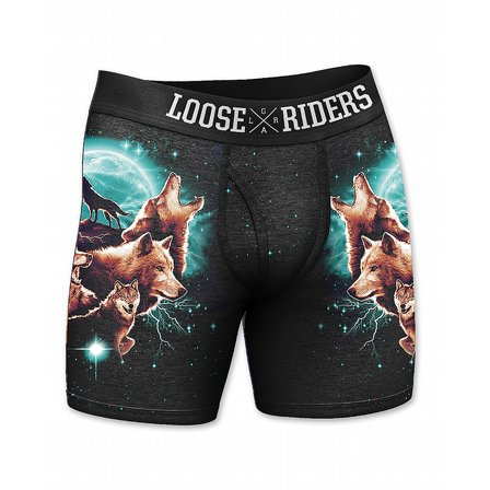 LOOSE RIDERS BOXERHORTS - WOLF 2-PACK 3