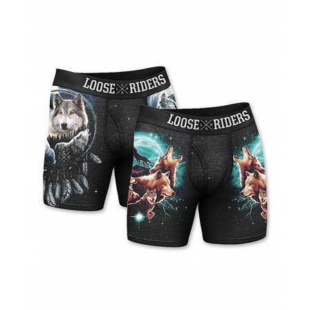 LOOSE RIDERS BOXERHORTS - WOLF 2-PACK