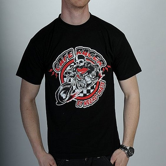 NEGRO-MATE T-SHIRT - MC RACER