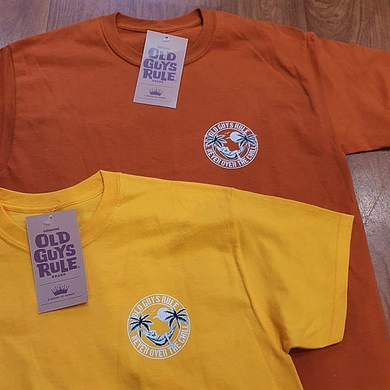 OLD GUYS RULE T-SHIRT - CHILL ORANGE 3