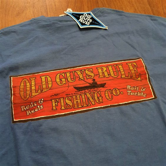 OLD GUYS RULE T-SHIRT - FISHING RED