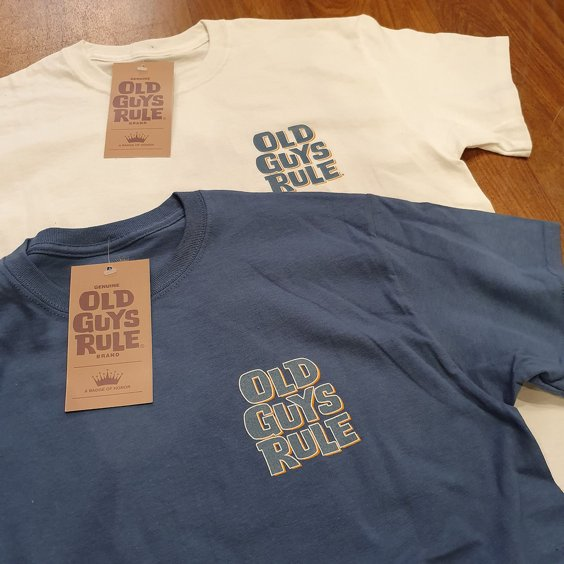 OLD GUYS RULE T-SHIRT - OVER THE HILL BLÅ 3
