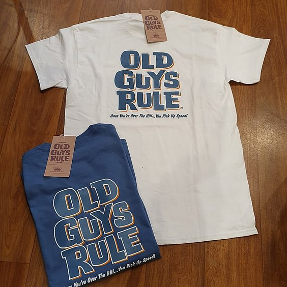 OLD GUYS RULE T-SHIRT - OVER THE HILL BLÅ 2