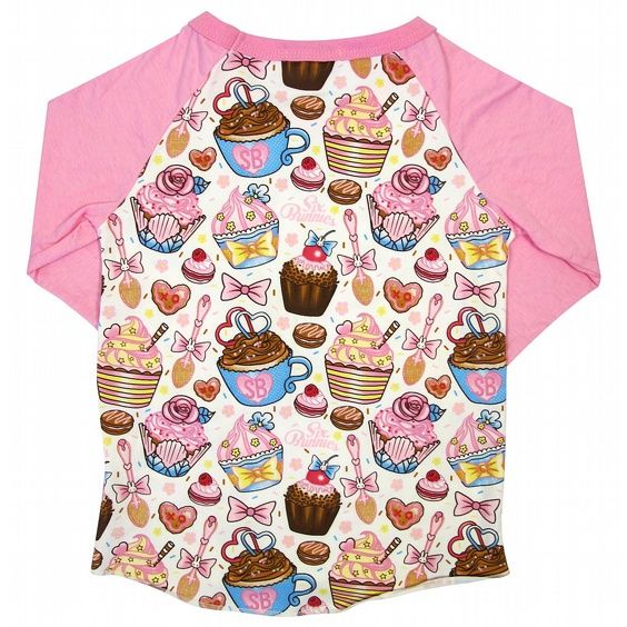 SIX BUNNIES BASEBALL TEE - CUPCAKES 2
