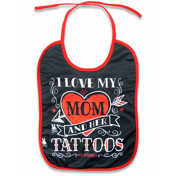 SIX BUNNIES BIB - TATTOO MOM