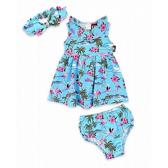 SIX BUNNIES SET - FLAMINGOS BLUE