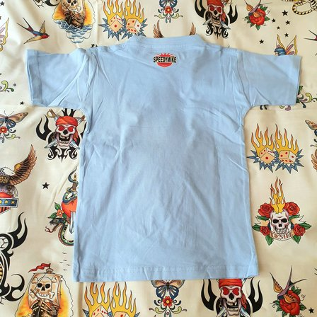 SPEEDY MIKE BARN T-SHIRT - VW BUSS BLUE 2