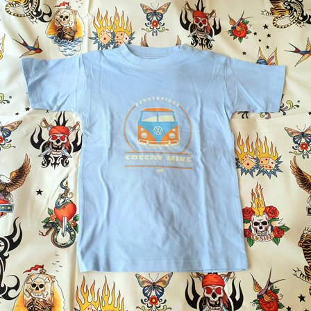 SPEEDY MIKE BARN T-SHIRT - VW BUSS BLUE