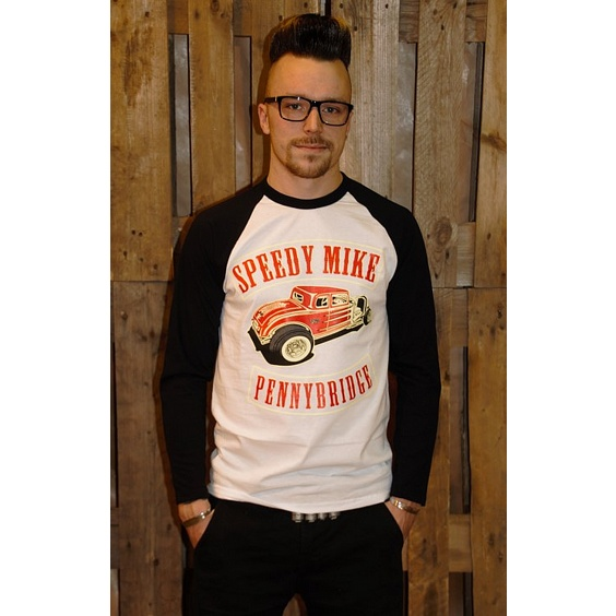 SPEEDY MIKE BASEBALL TEE - CLUBLOGO