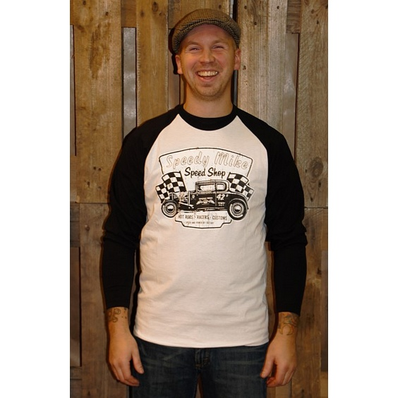 SPEEDY MIKE BASEBALL TEE - KRACKELERAD