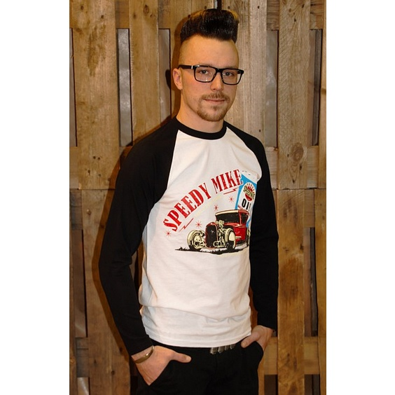 SPEEDY MIKE BASEBALL TEE - OLJEBURK