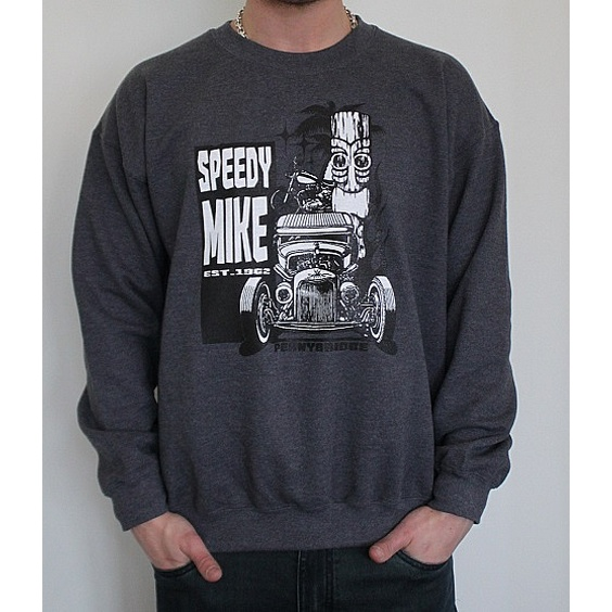 SPEEDY MIKE CREWNECK - TIKI GRÅ