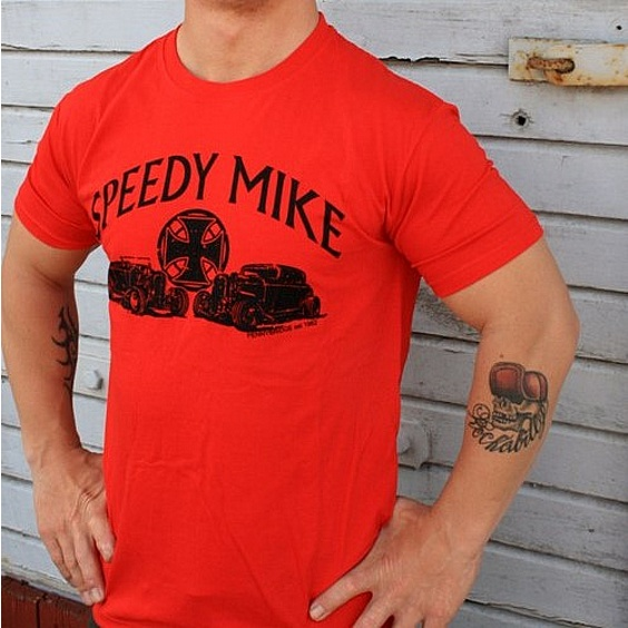 SPEEDY MIKE T-SHIRT - HOTROD RACE RÖD