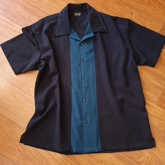 STEADY CLOTHING SKJORTA - BIG DADDY BLACK/THEAL