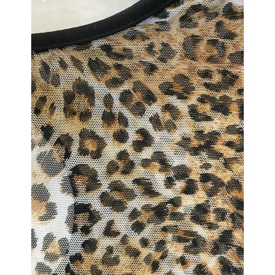 STEADY CLOTHING TOPP - LEOPARD MISS FANCY TOP 5