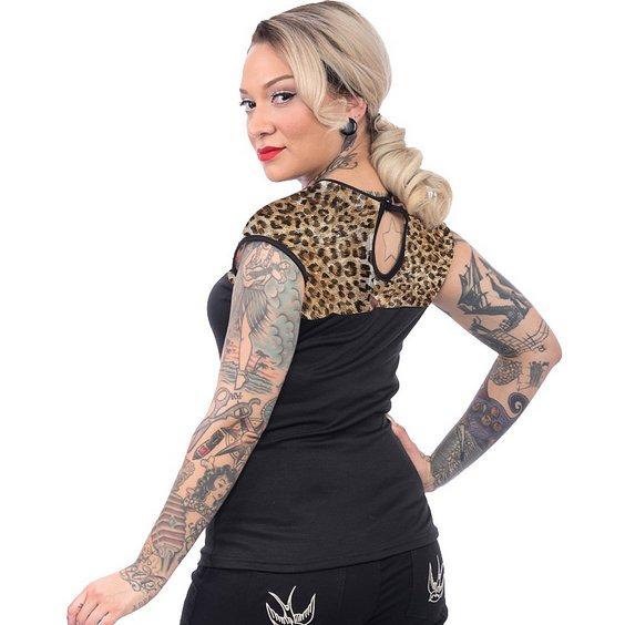 STEADY CLOTHING TOPP - LEOPARD MISS FANCY TOP