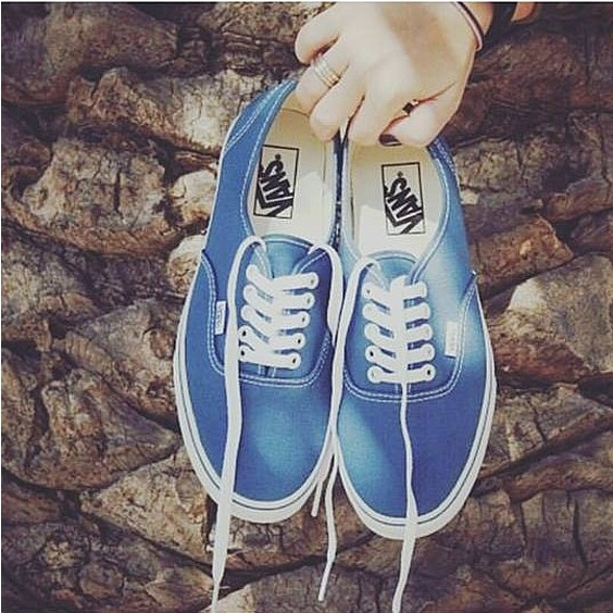 VANS SKOR - AUTHENTIC NAVY