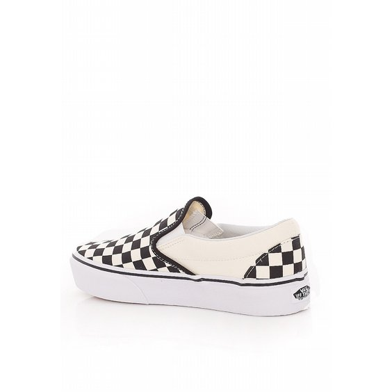 VANS SKOR - PLATFORM CLASSIC SLIP-ON CHECKER BLACK/WHITE 2