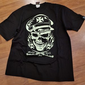666 TEE - SKULL MALTESER CROSS