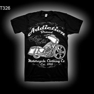 ADDICTION T-SHIRT B - BAGGAR BIKE