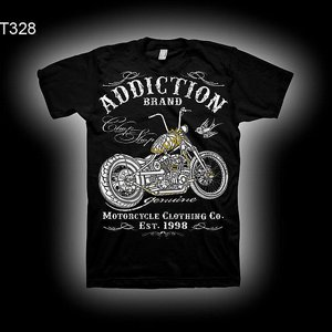 ADDICTION T-SHIRT B - GOLDEN FLAME