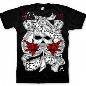 ADDICTION T-SHIRT - DEATH CARD