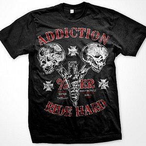 ADDICTION T-SHIRT - DUBBEL HEAD