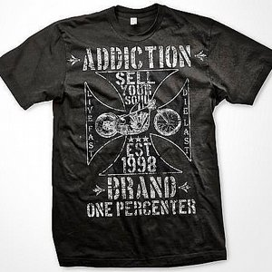 ADDICTION T-SHIRT - ONE PRECENTER-grey