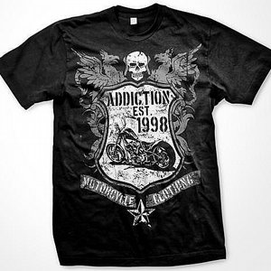 ADDICTION T-SHIRT - WING LOGO
