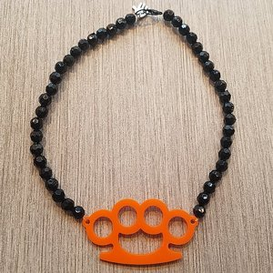 AMERICAN FRESH HALSBAND - KNOGJÄRN ORANGE