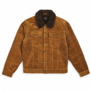 BRIXTON JACKA - CABLE SHERPA JACKET - BRASS