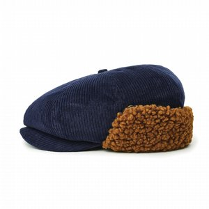 BRIXTON KEPS - BROOD EARFLAP SNAP CAP - WASHED NAVY