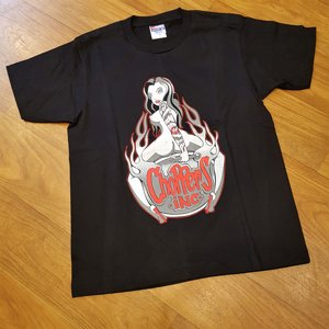 CHOPPERS INK TEE - FLAIM GIRL FRONT