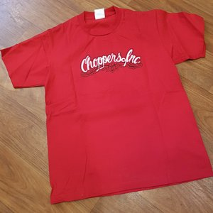 CHOPPERS INK TEE - FLAIM GIRL RED 2 thumbnail