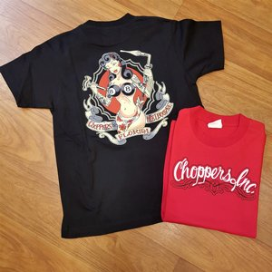 CHOPPERS INK TEE - MECK GIRL SVART
