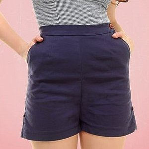 COLLECTIF SHORTS - BLÅ thumbnail