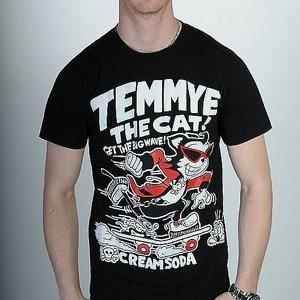 CREAM SODA T-SHIRT - TEMMY THE CAT