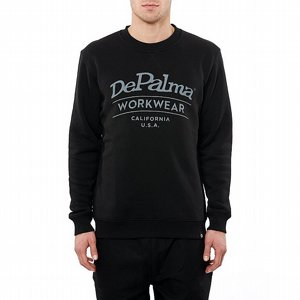 DEPALMA CREWNECK - HAPPY SVART