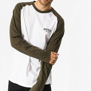 DICKIES BASEBALL TEE - DARK OLIVE/VIT